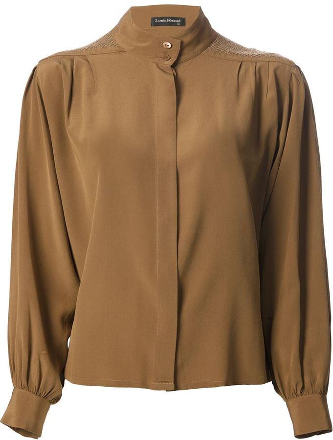 033caf88425 ... Коричневая блузка с длинным рукавом