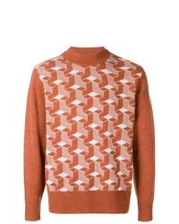 Мужская коричневая водолазка с геометрическим рисунком от Levi's Vintage Clothing