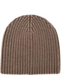 Мужская коричневая вязаная шапка от Eleventy