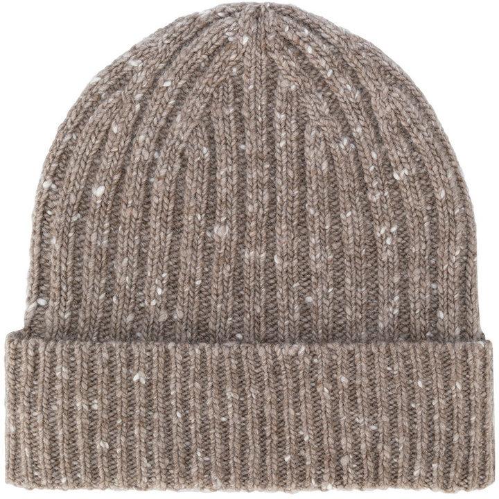 мужская коричневая вязаная шапка от Pringle 11 268 руб Farfetch