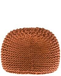 Мужская коричневая вязаная шапка от Telfar