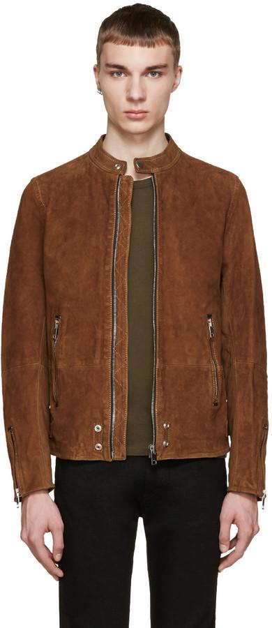 e88d9a782cc ... Мужская коричневая замшевая куртка от Diesel ...