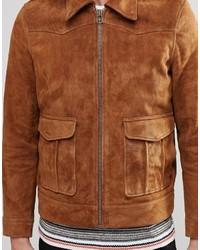 a91cd1f2957 ... Мужская коричневая замшевая куртка от Weekday ...