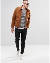 76b59df5b3a ... Мужская коричневая замшевая куртка от Weekday