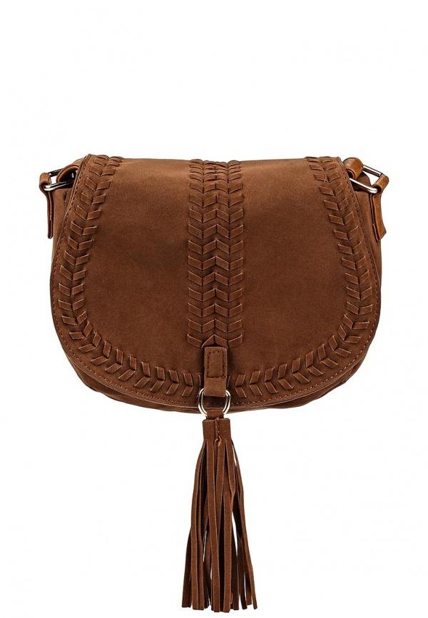 ed04d711f120 Коричневая замшевая сумка через плечо от Piazza Italia, 1 499 руб ...