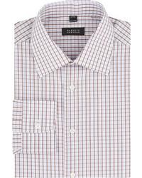 Коричневая классическая рубашка в шотландскую клетку