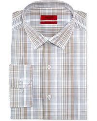 Коричневая классическая рубашка