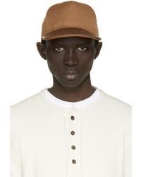 Мужская коричневая кожаная бейсболка от Balmain