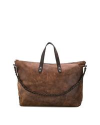 Мужская коричневая кожаная дорожная сумка от Ajmone