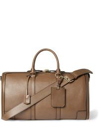Мужская коричневая кожаная дорожная сумка от Burberry