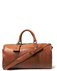 Мужская коричневая кожаная дорожная сумка от Polo Ralph Lauren