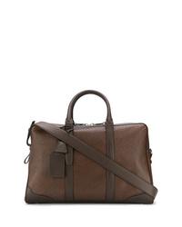 Мужская коричневая кожаная дорожная сумка от Santoni