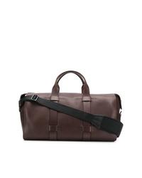 Мужская коричневая кожаная дорожная сумка от Troubadour