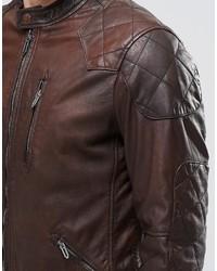 aff2da77c5e ... Мужская коричневая кожаная куртка от Pepe Jeans ...