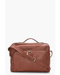 Мужская коричневая кожаная сумка почтальона от Maison Martin Margiela