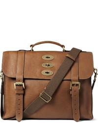 Мужская коричневая кожаная сумка почтальона от Mulberry
