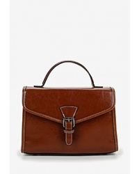 Коричневая кожаная сумка-саквояж от Cheribags