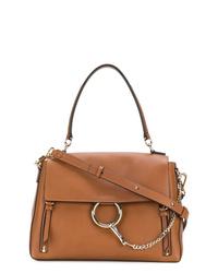 Коричневая кожаная сумка-саквояж от Chloé