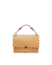 Коричневая кожаная сумка-саквояж от Fendi