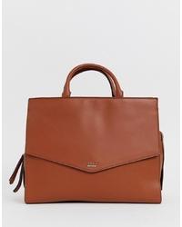 Коричневая кожаная сумка-саквояж от Fiorelli