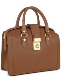 Женская коричневая кожаная сумка-саквояж от L.a.p.a.