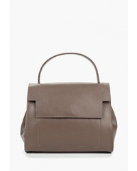 Коричневая кожаная сумка-саквояж от Marco Bonne`