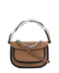 Женская коричневая кожаная сумка-саквояж от Marni