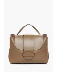 Коричневая кожаная сумка-саквояж от Mellizos