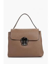 Коричневая кожаная сумка-саквояж от Roberto Buono
