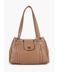 Коричневая кожаная сумка-саквояж от