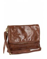 Коричневая кожаная сумка через плечо от Sefaro Exotic