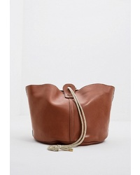 Коричневая кожаная сумка через плечо от Weekend Max Mara