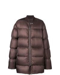Мужская коричневая куртка-пуховик от Rick Owens