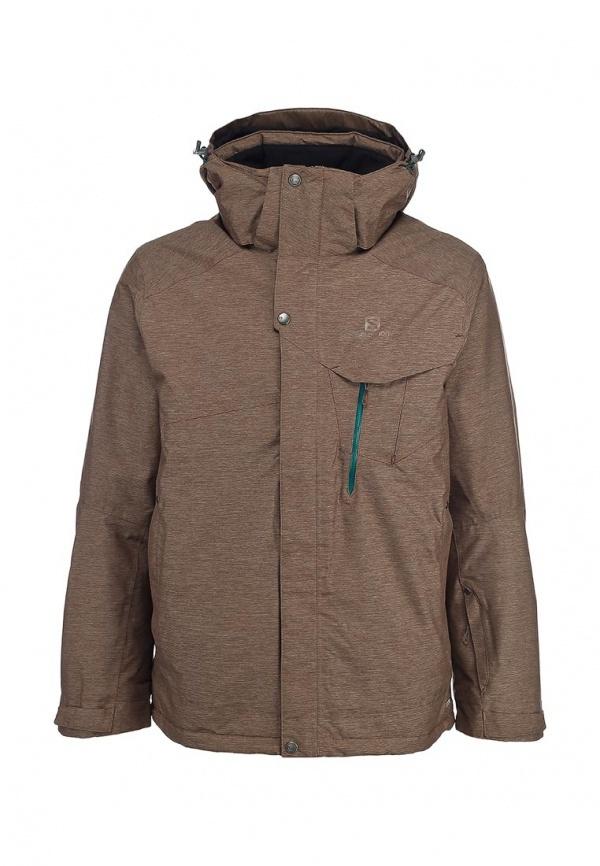 Мужская коричневая куртка-пуховик от Salomon
