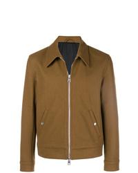 Мужская коричневая куртка-рубашка от AMI Alexandre Mattiussi