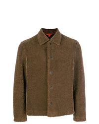 Мужская коричневая куртка-рубашка от Barena