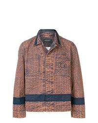 Мужская коричневая куртка-рубашка от Craig Green