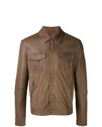 Мужская коричневая куртка-рубашка от Eleventy