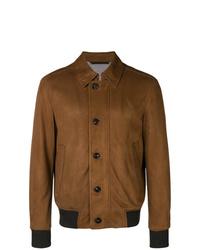 Мужская коричневая куртка-рубашка от Ermenegildo Zegna