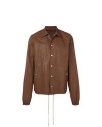 Мужская коричневая куртка-рубашка от Rick Owens