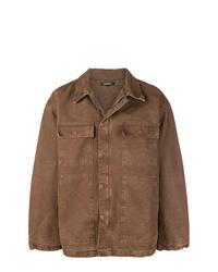Мужская коричневая куртка-рубашка от Yeezy