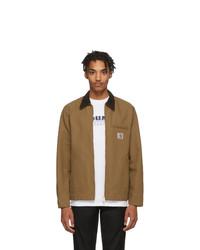 Коричневая куртка с воротником и на пуговицах от CARHARTT WORK IN PROGRESS