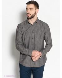 Мужская коричневая рубашка с длинным рукавом от Broadway