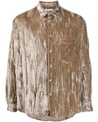 Мужская коричневая рубашка с длинным рукавом от Cmmn Swdn
