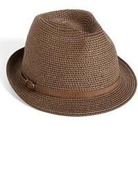 Коричневая соломенная шляпа