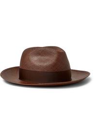 Мужская коричневая соломенная шляпа от Borsalino