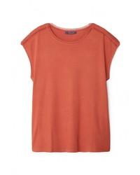 Женская коричневая футболка с круглым вырезом от Violeta BY MANGO