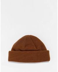Мужская коричневая шапка от Asos