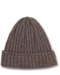 Мужская коричневая шапка от De Bonne Facture