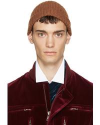 Мужская коричневая шапка от Haider Ackermann